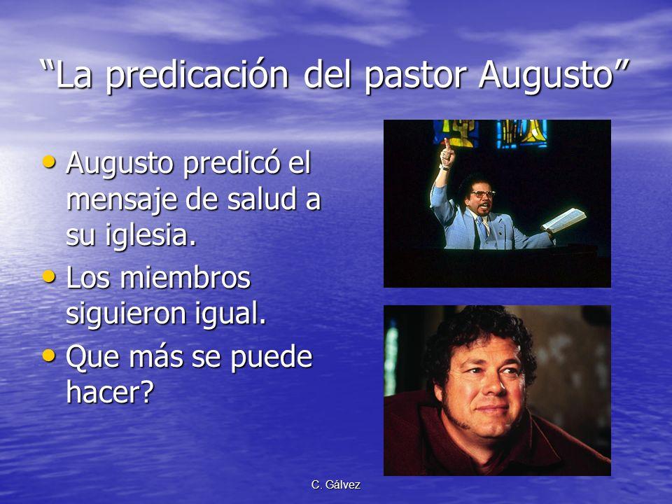 La predicación del pastor Augusto
