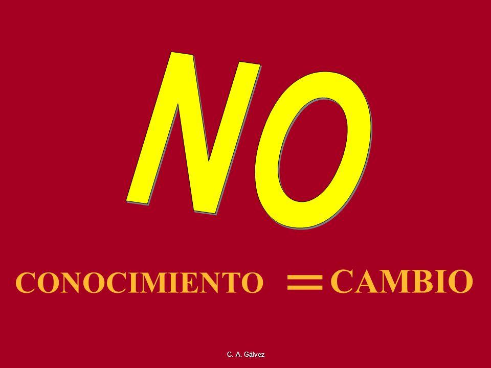 NO = CONOCIMIENTO CAMBIO C. A. Gálvez