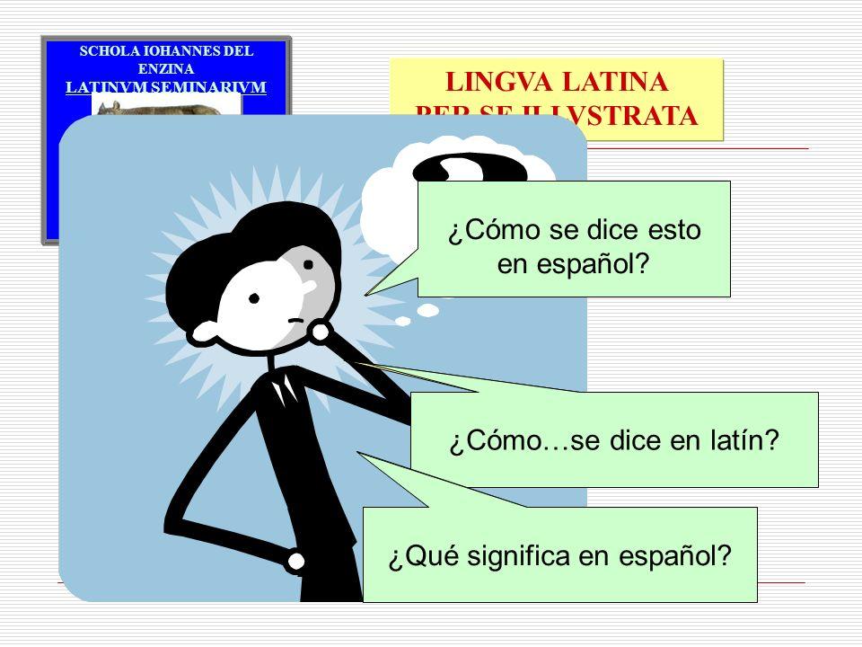 Quomodo Hispanice hoc dicitur ¿Cómo se dice esto en español
