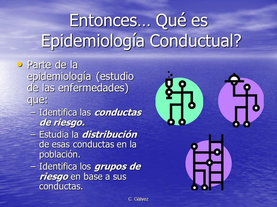 Entonces… Qué es Epidemiología Conductual