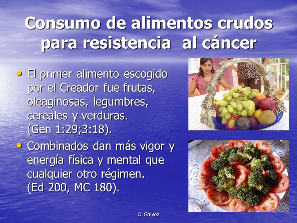 Consumo de alimentos crudos para resistencia al cáncer