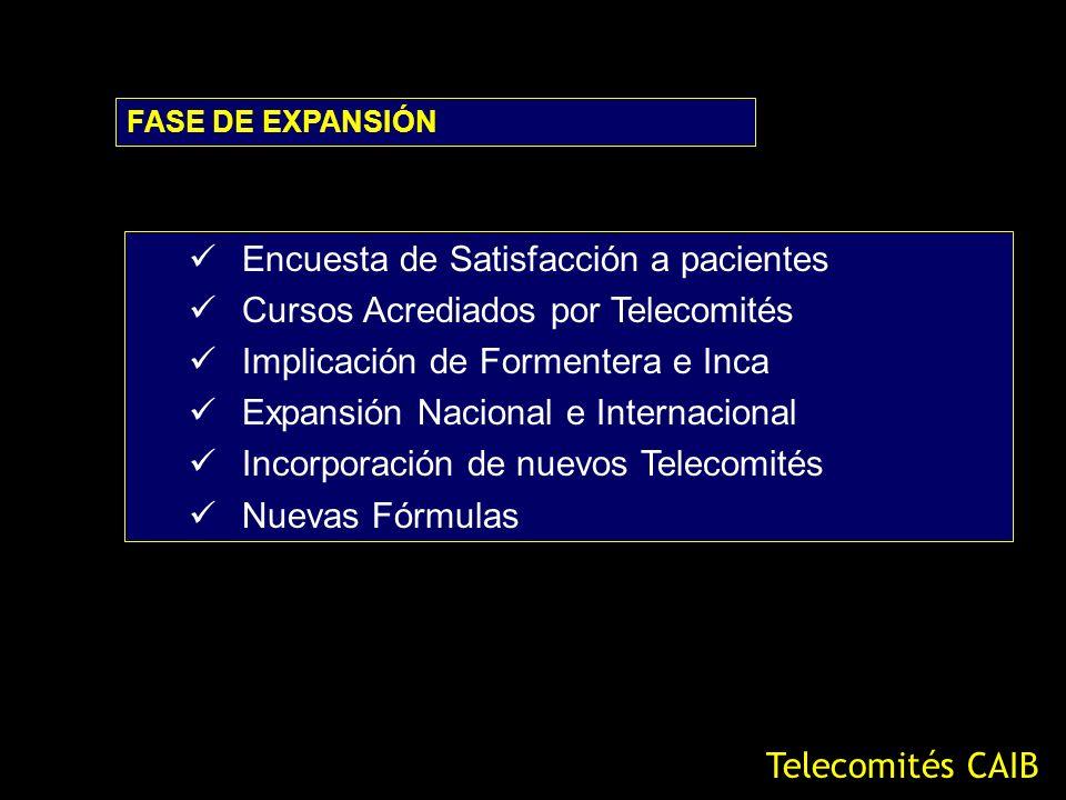 Encuesta de Satisfacción a pacientes Cursos Acrediados por Telecomités