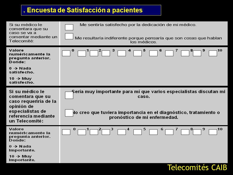 . Encuesta de Satisfacción a pacientes