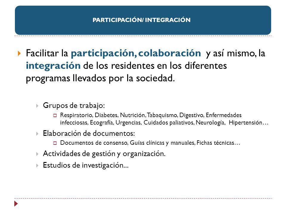 PARTICIPACIÓN/ INTEGRACIÓN