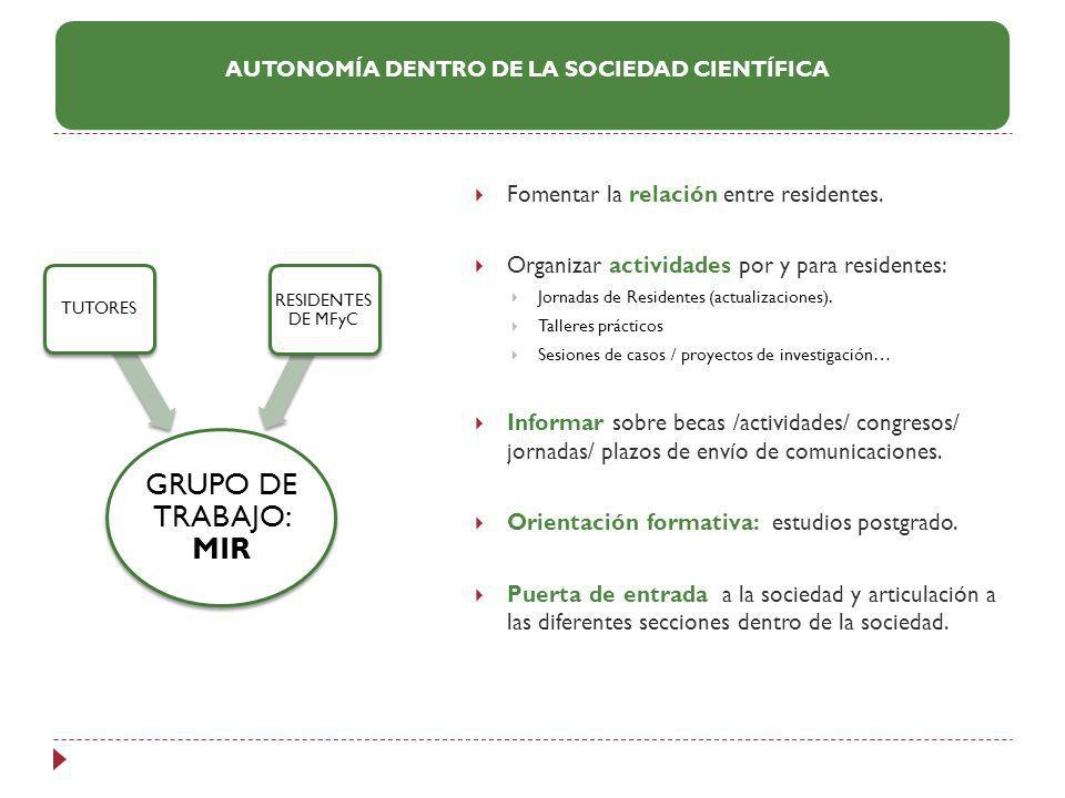 AUTONOMÍA DENTRO DE LA SOCIEDAD CIENTÍFICA