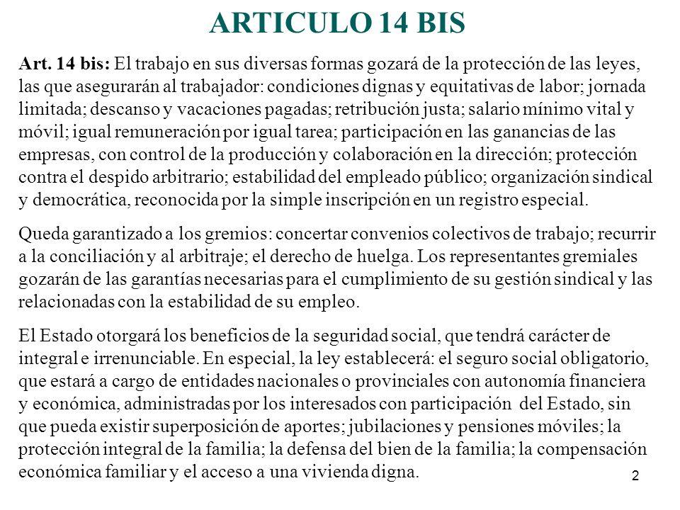 ARTICULO 14 BIS