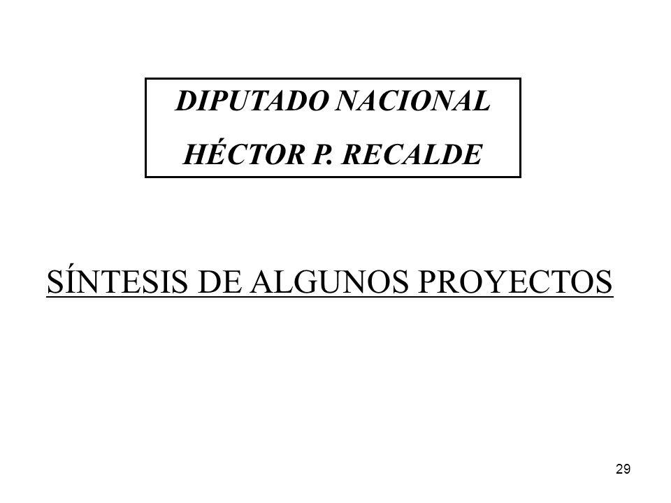 SÍNTESIS DE ALGUNOS PROYECTOS