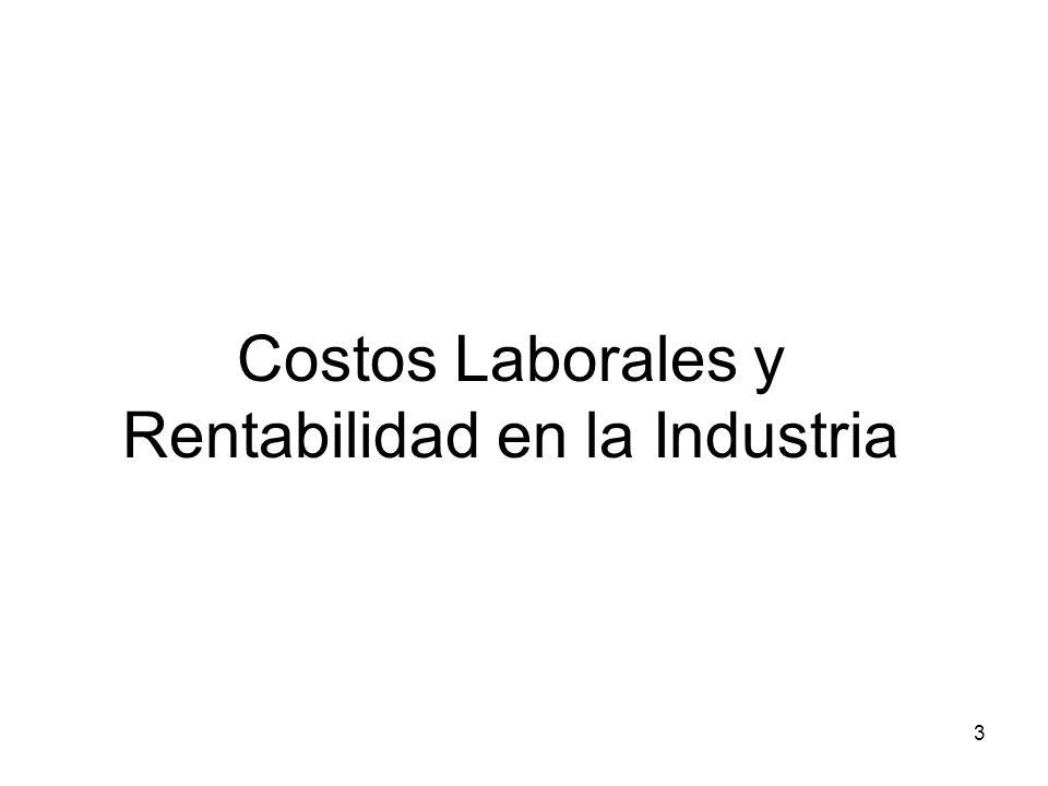 Costos Laborales y Rentabilidad en la Industria