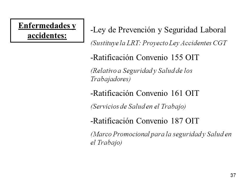 Enfermedades y accidentes: