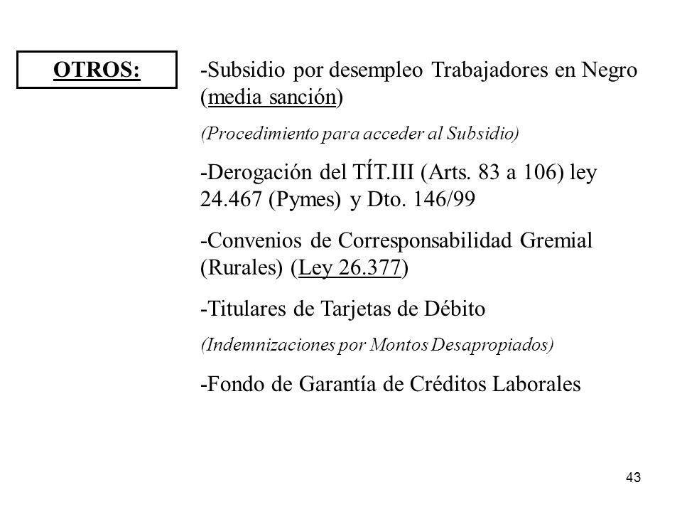 -Subsidio por desempleo Trabajadores en Negro (media sanción)