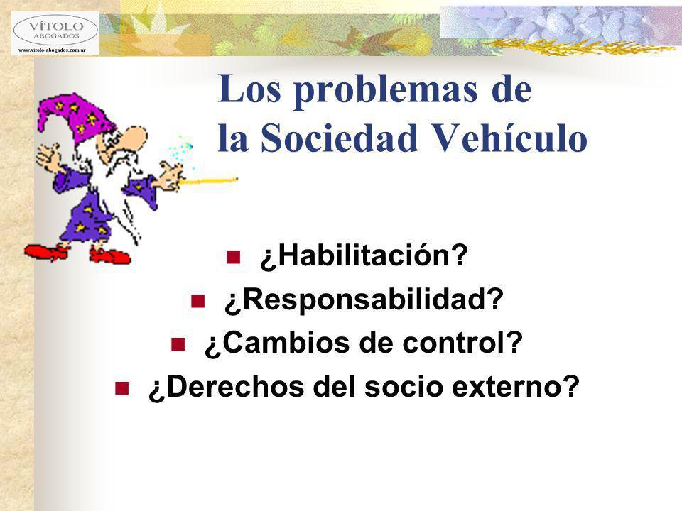 Los problemas de la Sociedad Vehículo