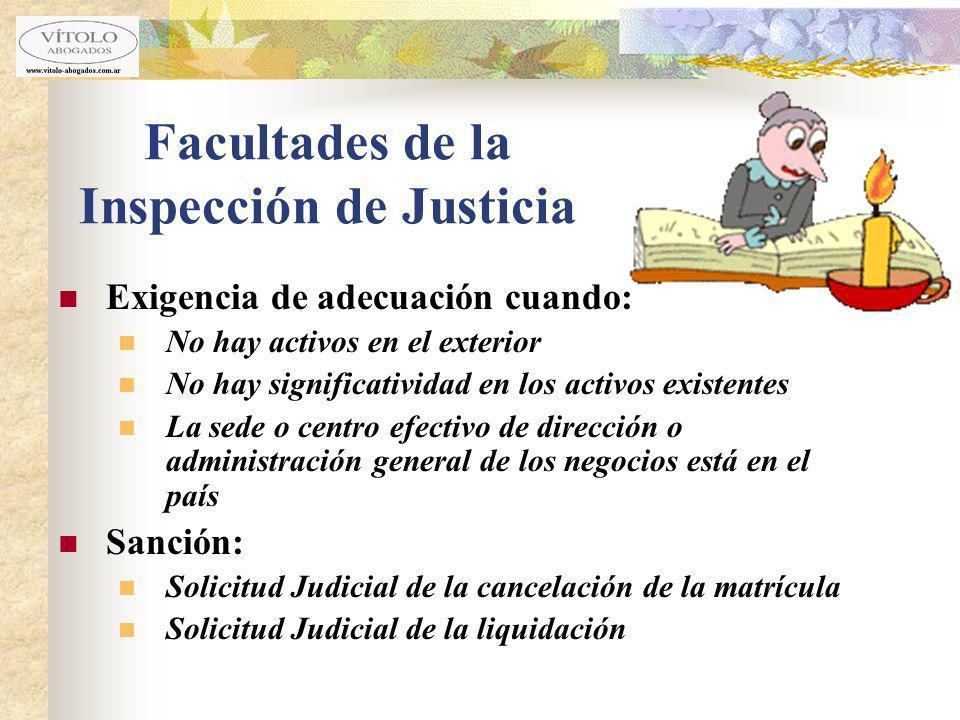 Facultades de la Inspección de Justicia