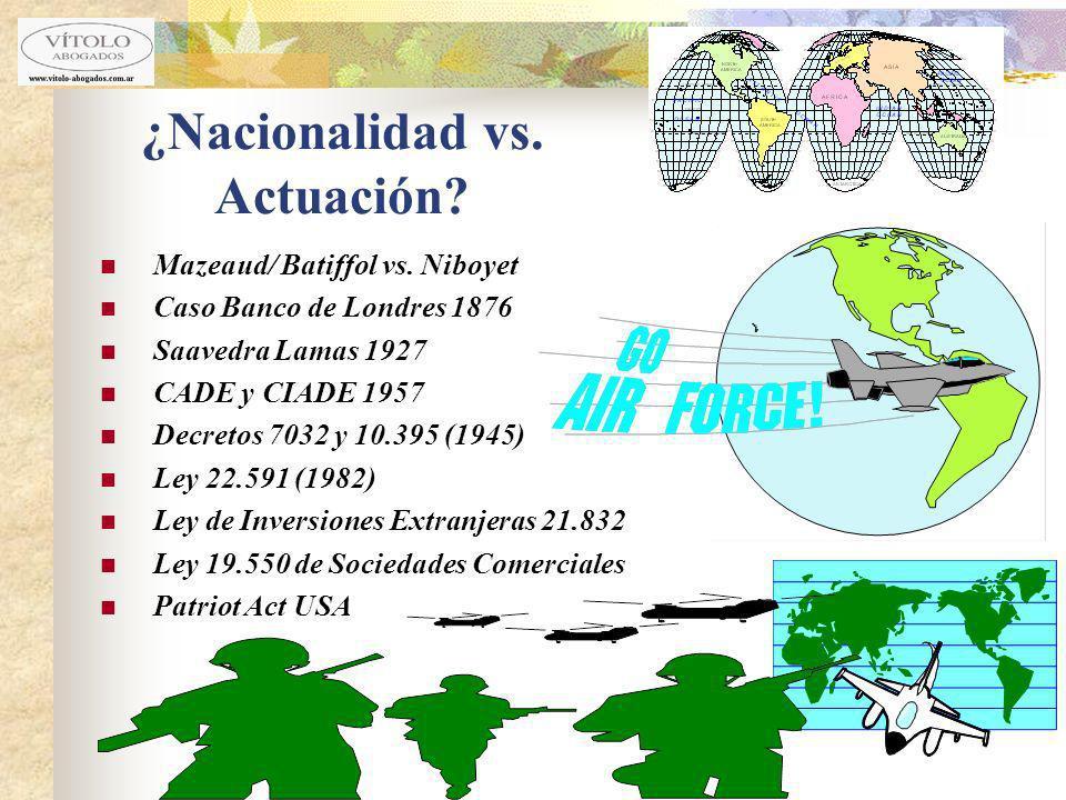 ¿Nacionalidad vs. Actuación