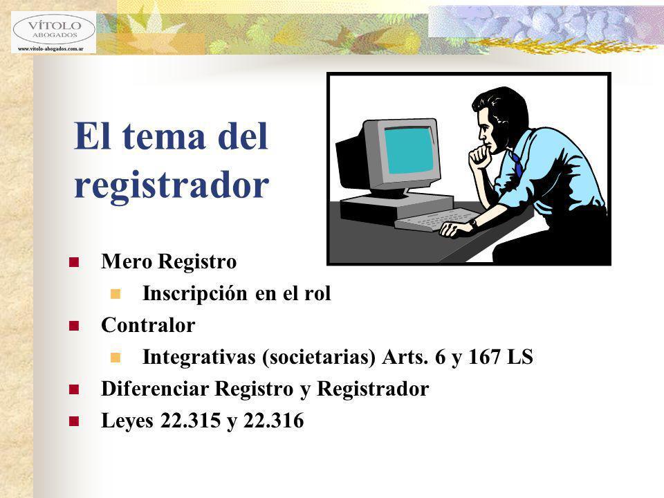 El tema del registrador