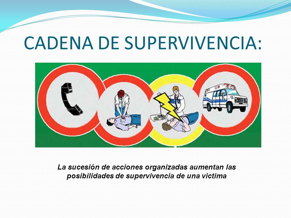 CADENA DE SUPERVIVENCIA: