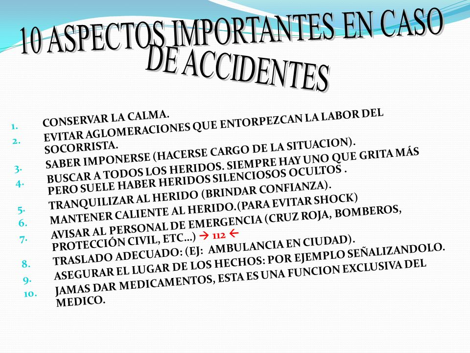 10 ASPECTOS IMPORTANTES EN CASO