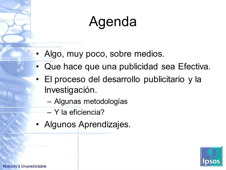 Agenda Algo, muy poco, sobre medios.