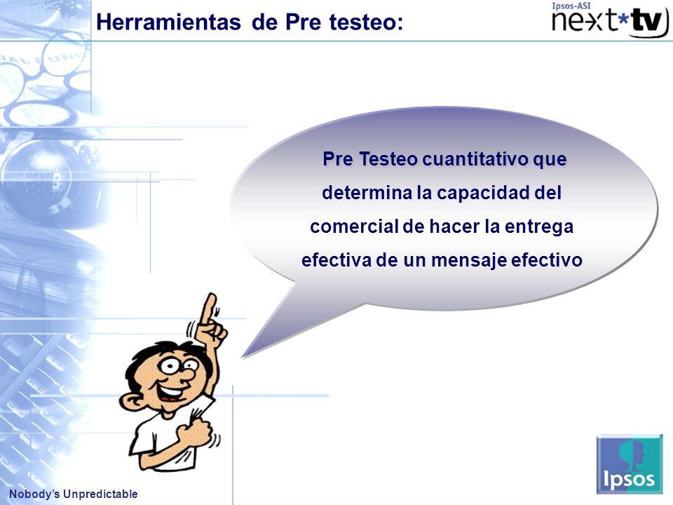 Herramientas de Pre testeo: