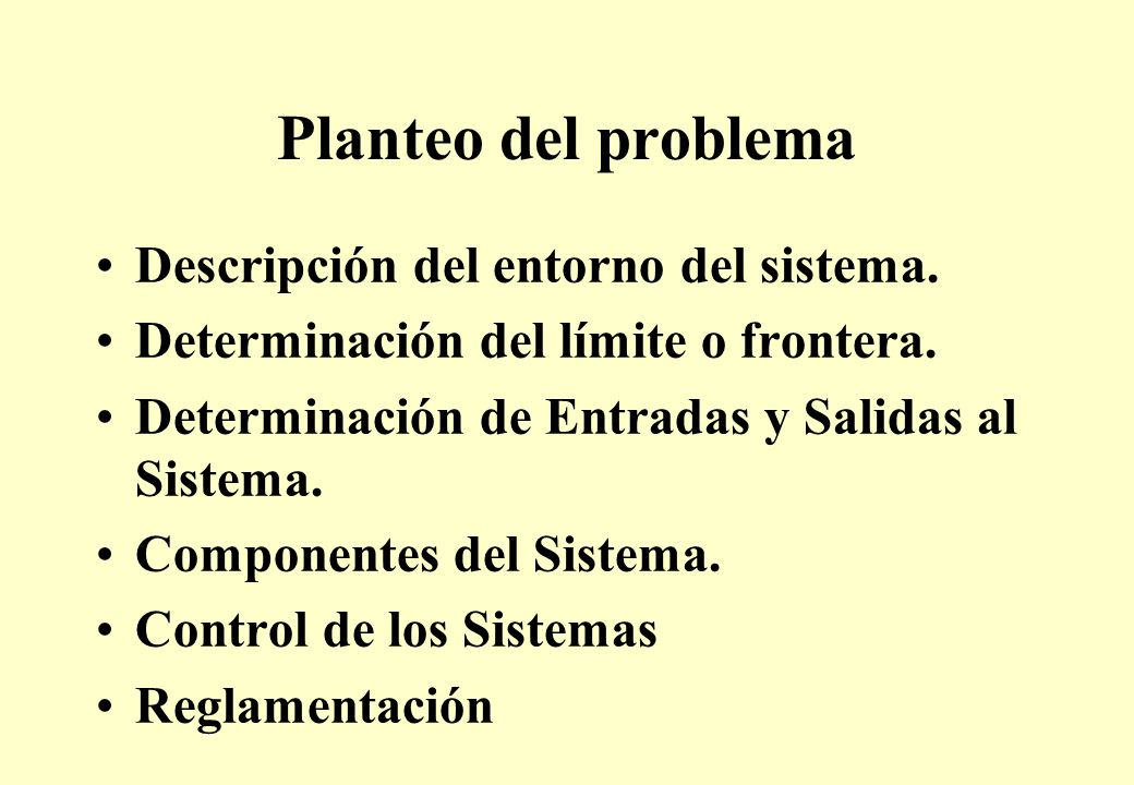 Planteo del problema Descripción del entorno del sistema.
