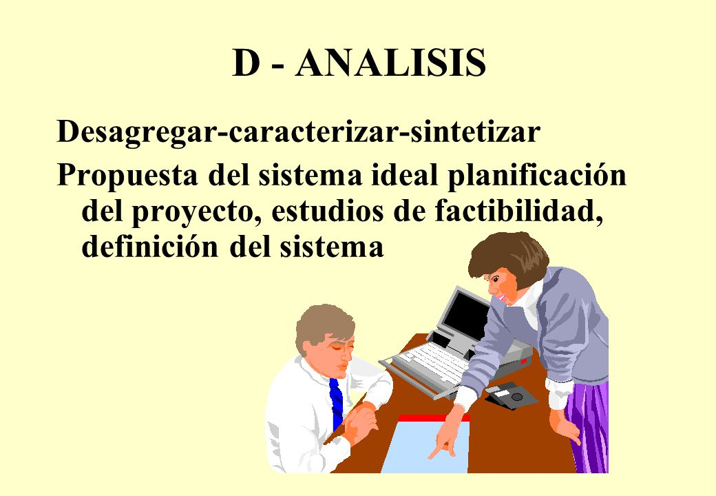 D - ANALISIS Desagregar-caracterizar-sintetizar