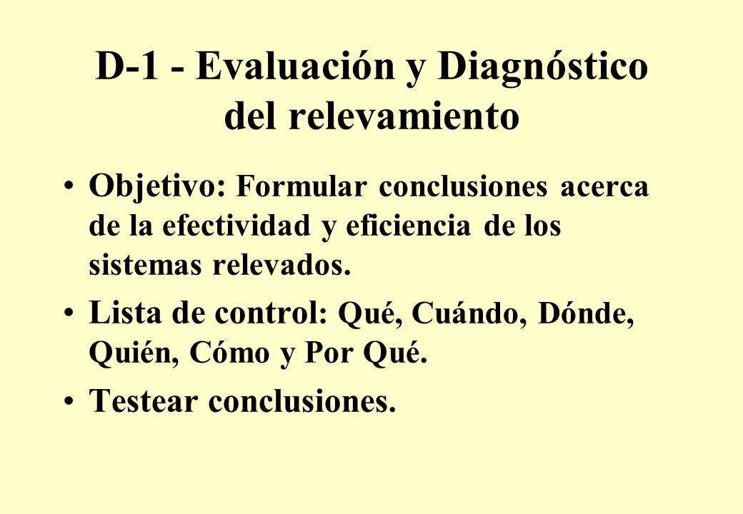 D-1 - Evaluación y Diagnóstico del relevamiento