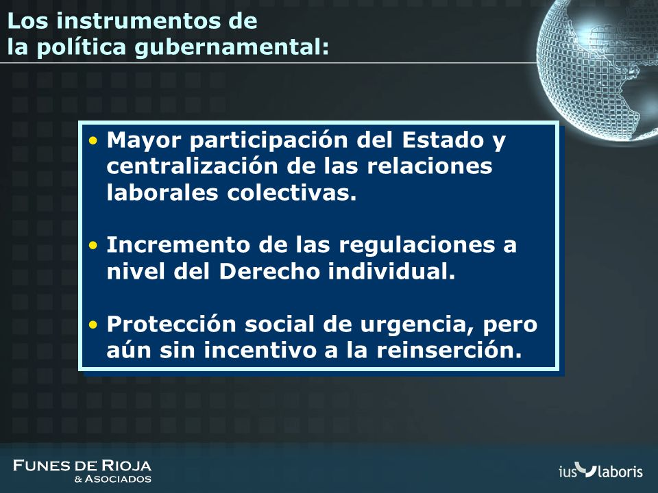 Los instrumentos de la política gubernamental: