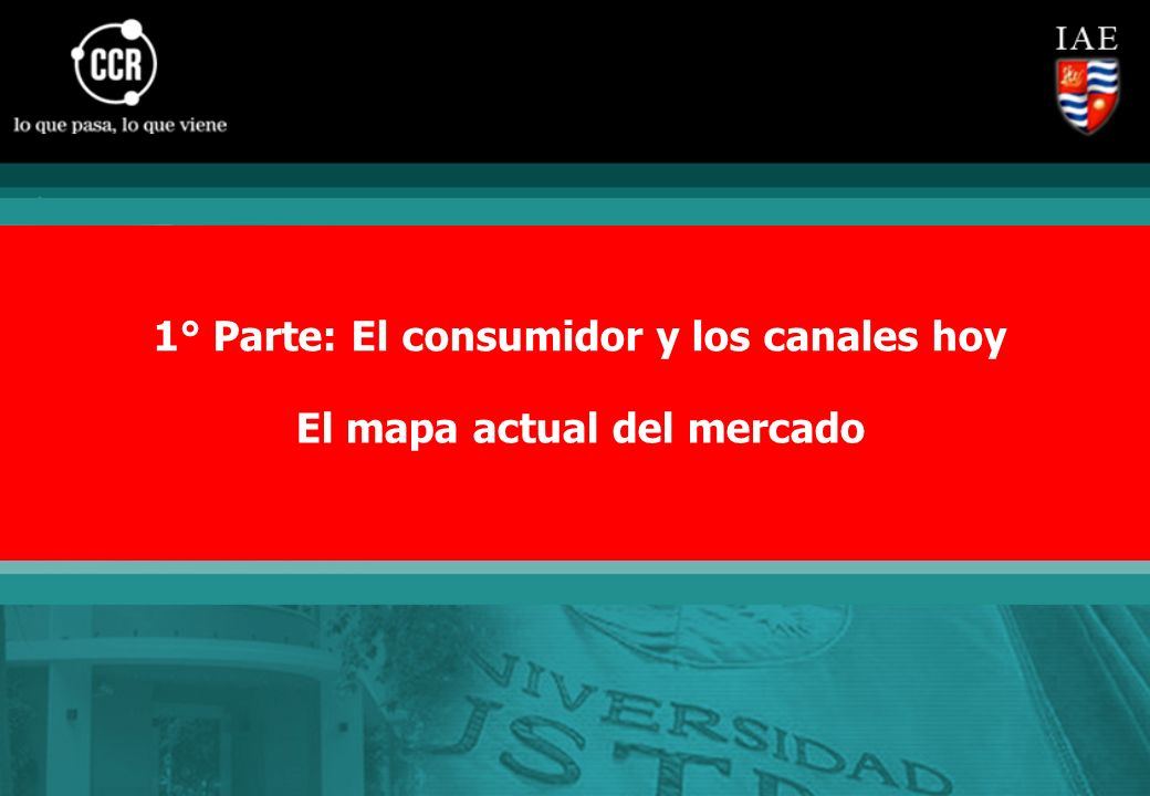 1° Parte: El consumidor y los canales hoy El mapa actual del mercado