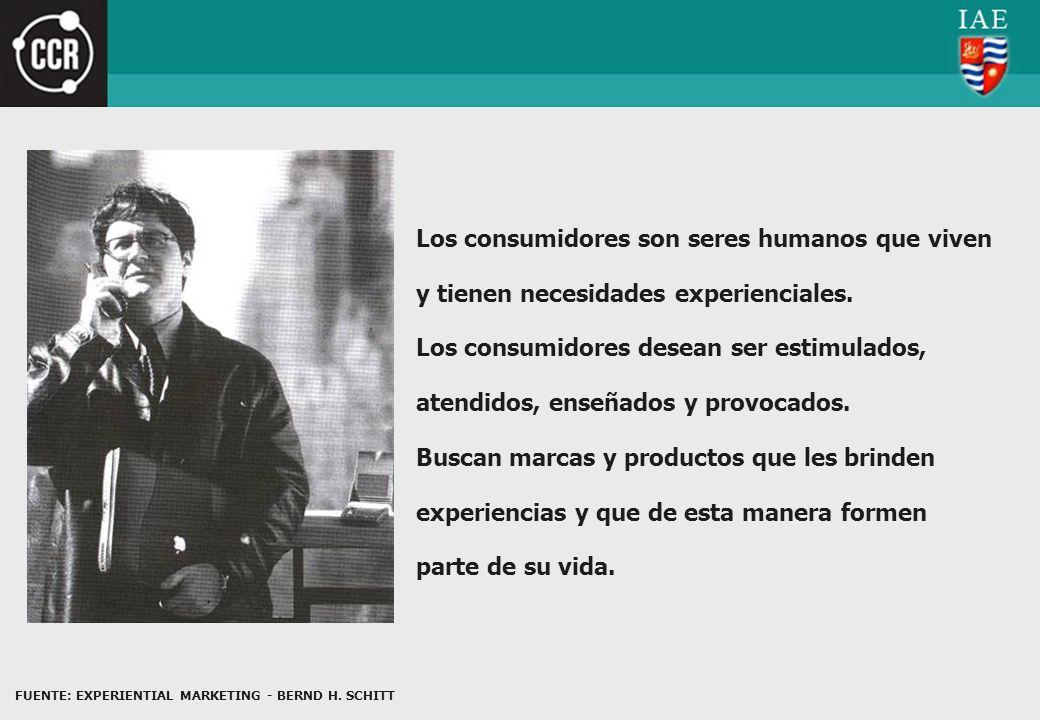 Los consumidores son seres humanos que viven y tienen necesidades experienciales.