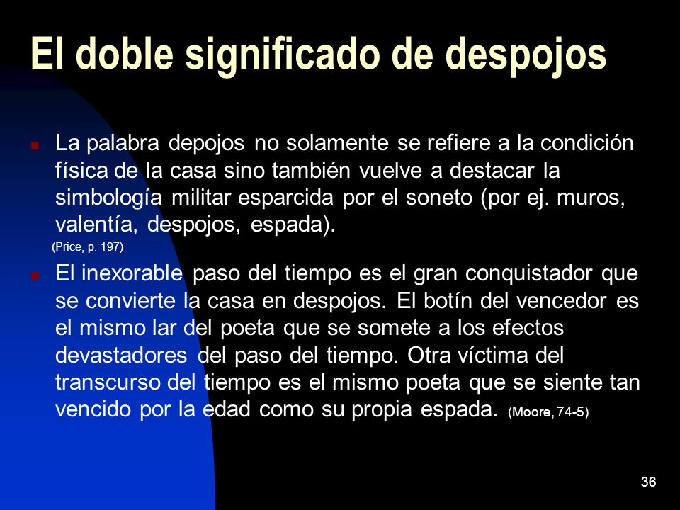 El doble significado de despojos