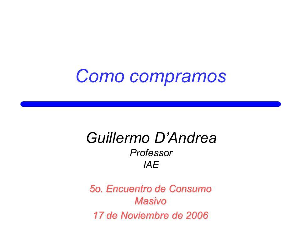 Como compramos Guillermo D'Andrea Professor IAE