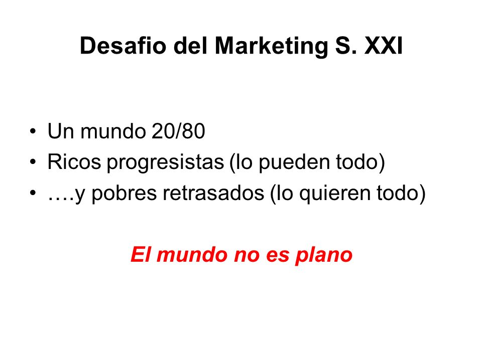 Desafio del Marketing S. XXI