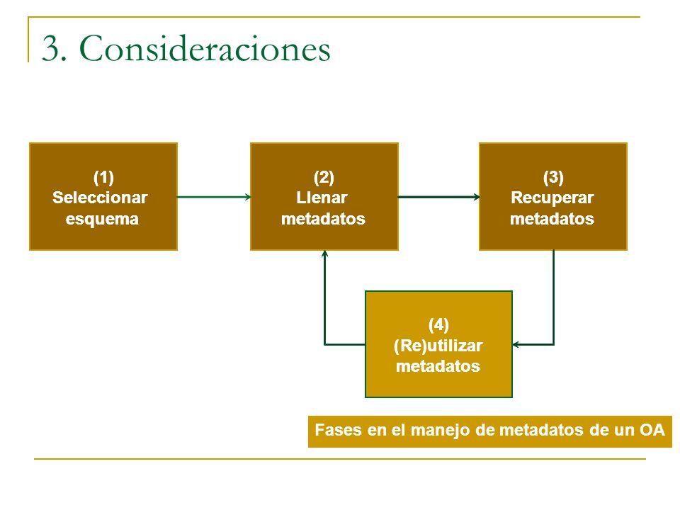 3. Consideraciones (1) (1) (2) (2) (3) (3) Seleccionar Seleccionar