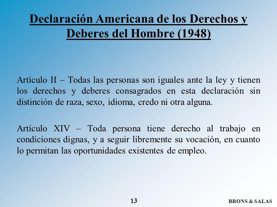 Declaración Americana de los Derechos y Deberes del Hombre (1948)