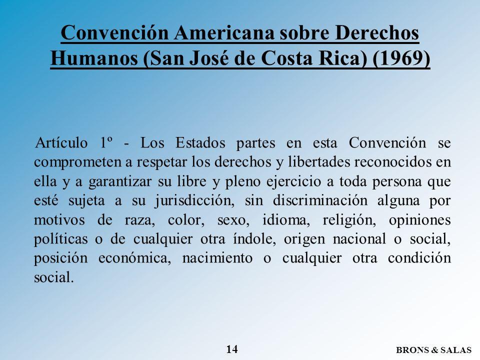 Convención Americana sobre Derechos Humanos (San José de Costa Rica) (1969)