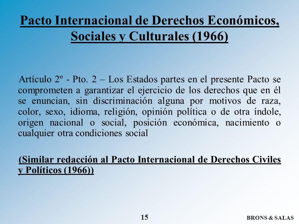 Pacto Internacional de Derechos Económicos, Sociales y Culturales (1966)