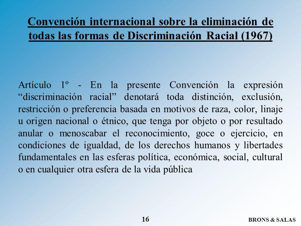 Convención internacional sobre la eliminación de todas las formas de Discriminación Racial (1967)