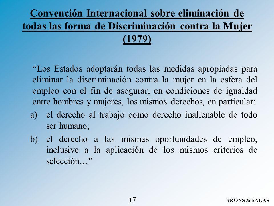 Convención Internacional sobre eliminación de todas las forma de Discriminación contra la Mujer (1979)