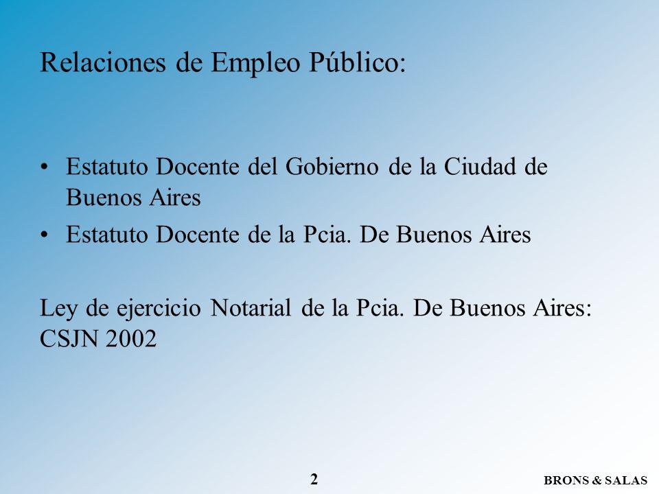 Relaciones de Empleo Público: