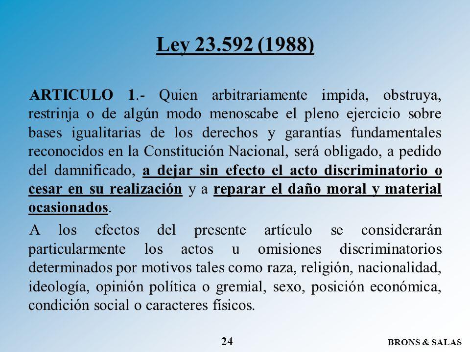 Ley 23.592 (1988)