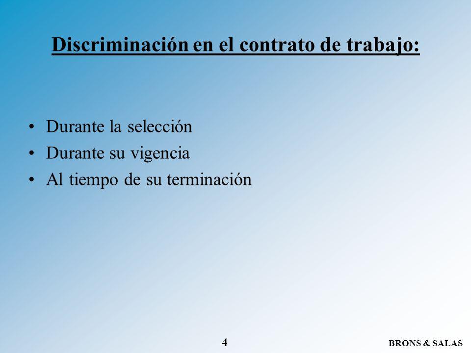Discriminación en el contrato de trabajo: