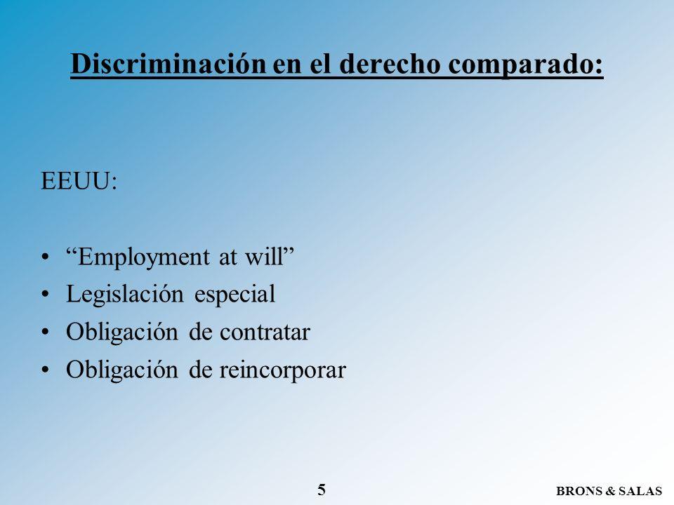 Discriminación en el derecho comparado: