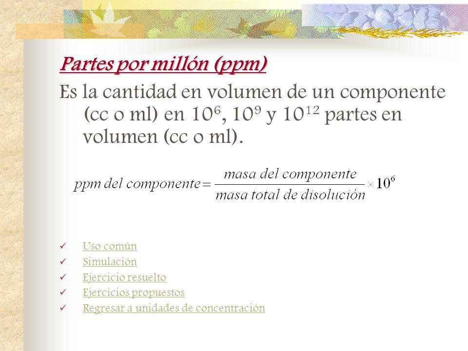 Partes por millón (ppm)