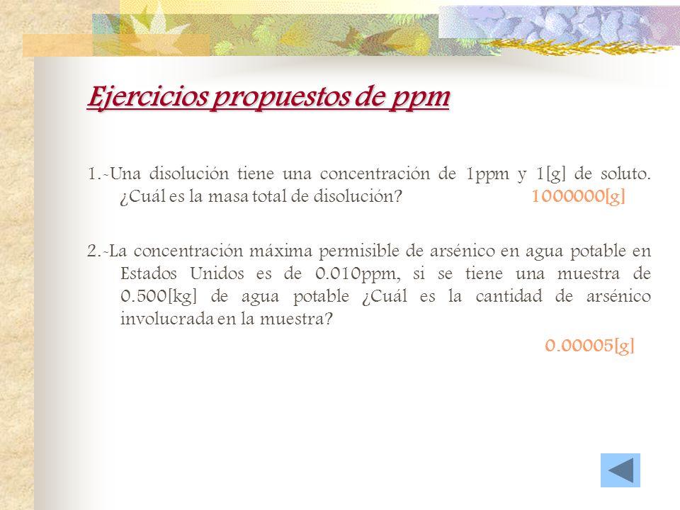 Ejercicios propuestos de ppm