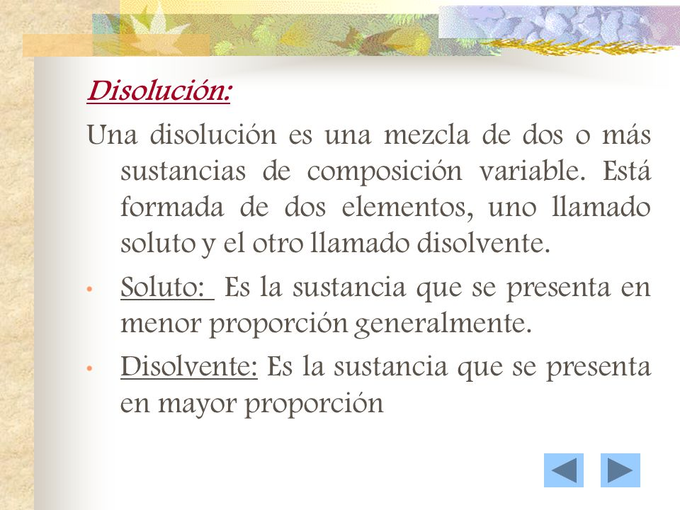 Disolución: