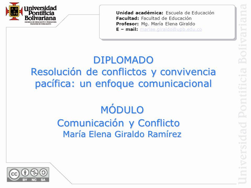 Comunicación y Conflicto