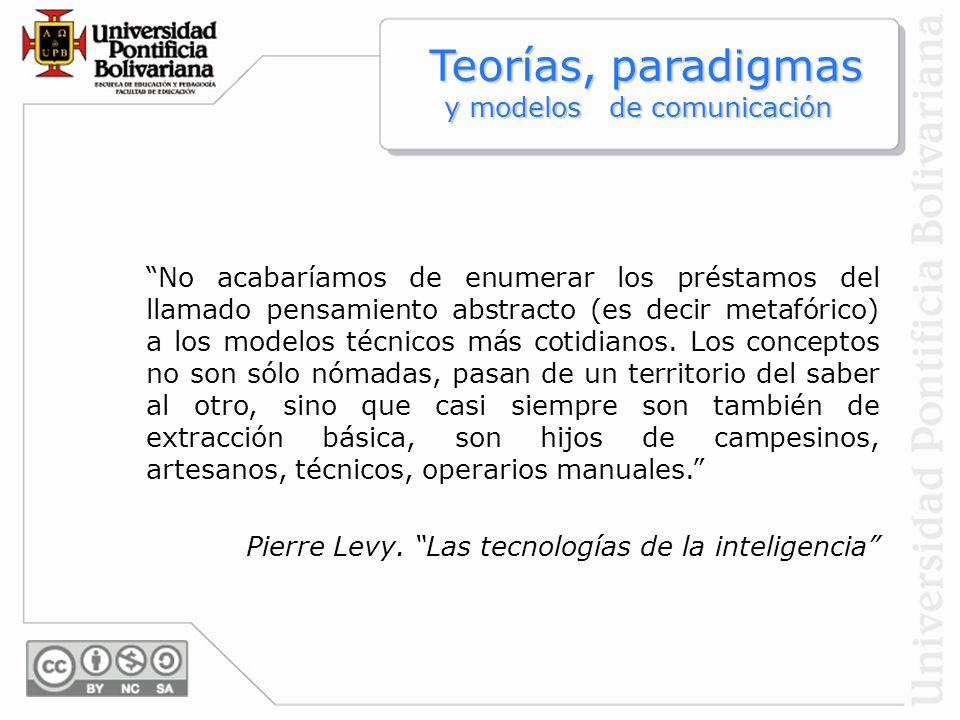 Teorías, paradigmas y modelos de comunicación
