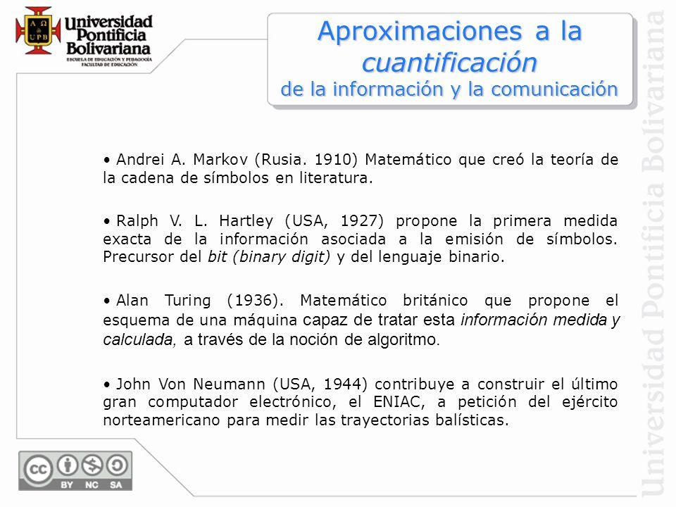 Aproximaciones a la cuantificación de la información y la comunicación