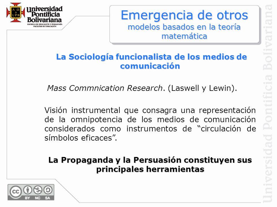 La Sociología funcionalista de los medios de comunicación
