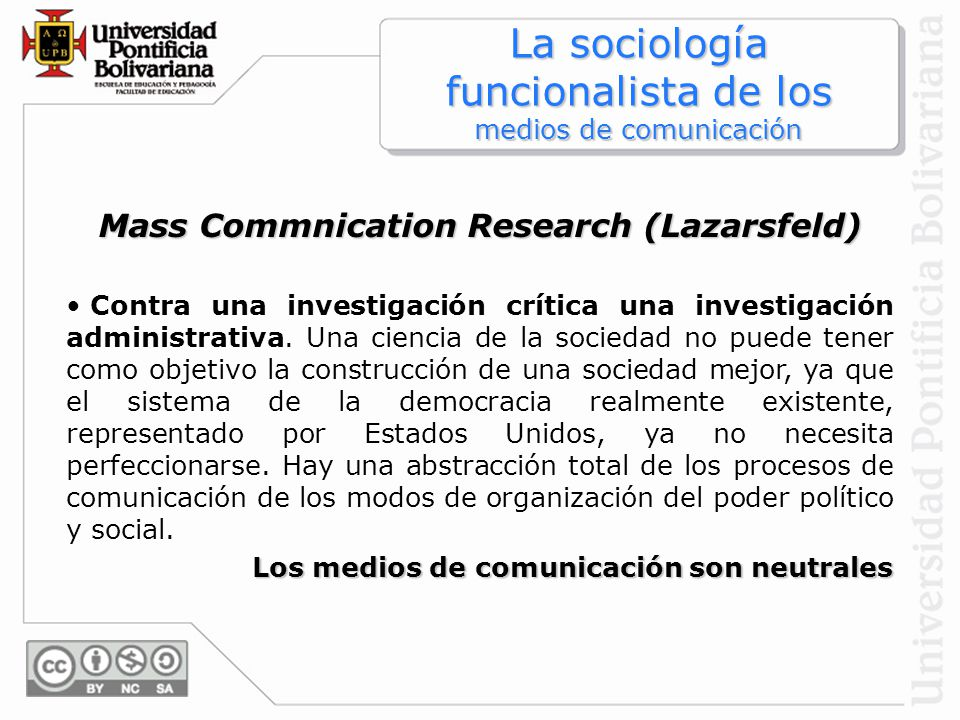 Mass Commnication Research (Lazarsfeld)