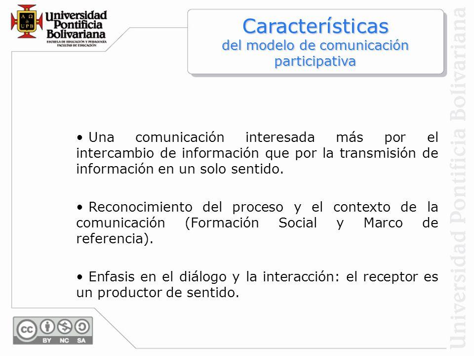 Características del modelo de comunicación participativa